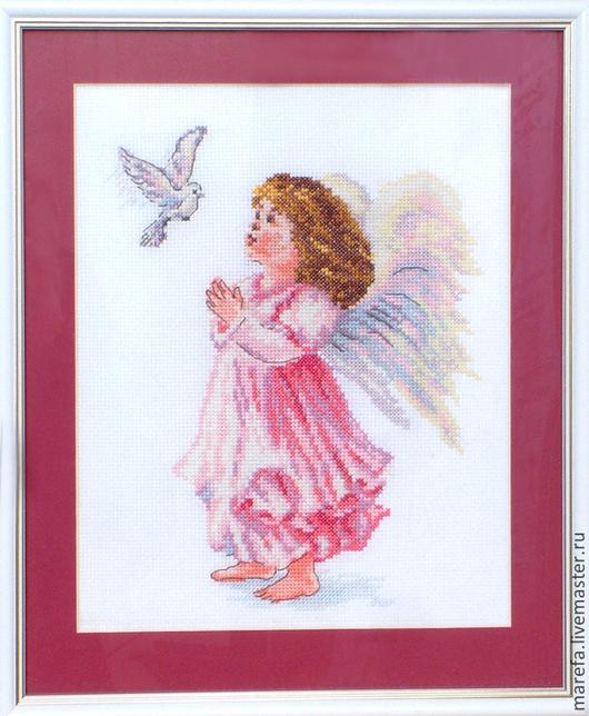 Люди, ручной работы. Ярмарка Мастеров - ручная работа. Купить Ангел - Благослови. Handmade. Белый, ангел, вышивка, подарок, именины
