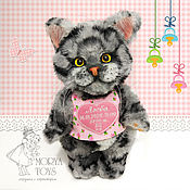 Куклы и игрушки handmade. Livemaster - original item Teddy Animals: Kitty with Yandex. Metrica. Handmade.