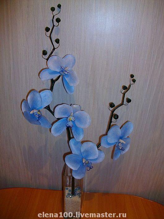 Цветы ручной работы. Ярмарка Мастеров - ручная работа. Купить Голубая орхидея - керамическая флористика. Handmade. Подарок, подарок женщине