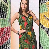 Одежда ручной работы. Ярмарка Мастеров - ручная работа Платье вязаное крючком в технике ирландского кружева Аленький цветочек. Handmade.