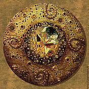 """Для дома и интерьера ручной работы. Ярмарка Мастеров - ручная работа Часы """"КЛИМТовые"""" №1. Handmade."""