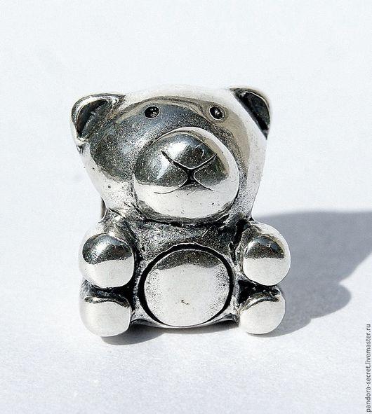 Для украшений ручной работы. Ярмарка Мастеров - ручная работа. Купить Европейская шарм бусина мишка для браслета серебро 925 пробы. Handmade.