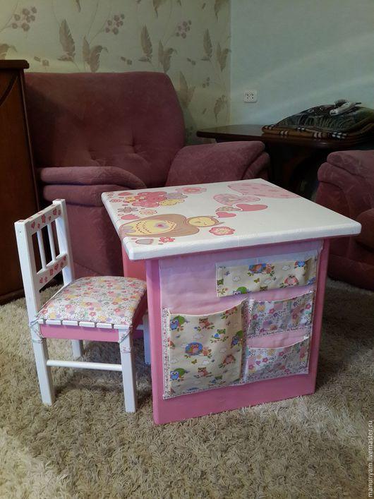 Детская ручной работы. Ярмарка Мастеров - ручная работа. Купить детская мебель из дерева. Handmade. Розовый, детский, стул из дерева