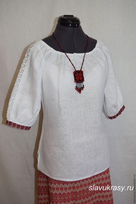 Одежда ручной работы. Ярмарка Мастеров - ручная работа. Купить Вышиванка. Handmade. Белый, лён 100%