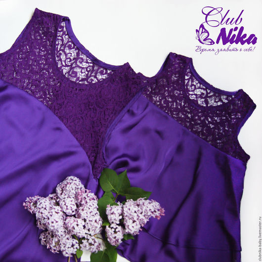 Одежда для девочек, ручной работы. Ярмарка Мастеров - ручная работа. Купить Family look ClubNIKA. Handmade. Тёмно-фиолетовый, платье