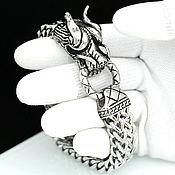 Украшения ручной работы. Ярмарка Мастеров - ручная работа Браслет с Драконом из ювелирной стали унисекс. Handmade.