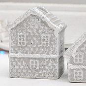 Для дома и интерьера handmade. Livemaster - original item Set of candlesticks snow Covered houses Christmas decor. Handmade.