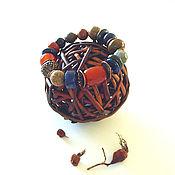"""Украшения ручной работы. Ярмарка Мастеров - ручная работа Браслет """"Осенний чай с шиповником"""". Handmade."""