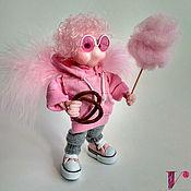 Куклы и пупсы ручной работы. Ярмарка Мастеров - ручная работа Кукла Ангел-оптимист  Феликс. Текстильная каркасная куколка. Handmade.