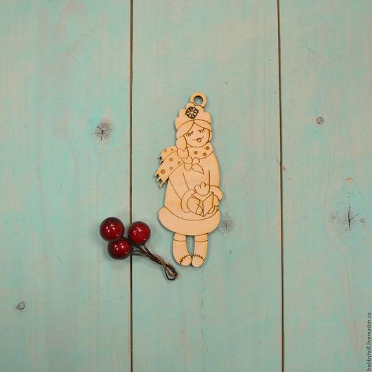 Декупаж и роспись ручной работы. Ярмарка Мастеров - ручная работа. Купить Снегурочка, ёлочная игрушка. Handmade. Елочная игрушка