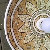 Для дома и интерьера handmade. Livemaster - original item Ceramic lamp with printed pattern Nickel diameter 35-40 cm. Handmade.