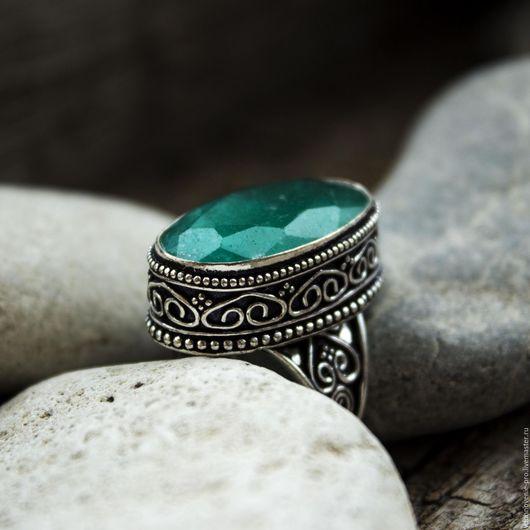 """Кольца ручной работы. Ярмарка Мастеров - ручная работа. Купить Царское кольцо (перстень) с изумрудом """"Хранитель"""". Handmade. Зеленый"""