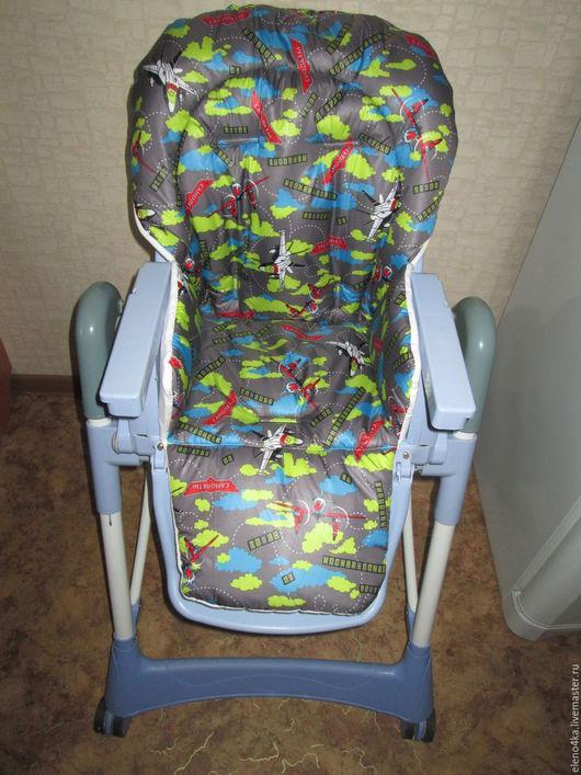 Аксессуары для колясок ручной работы. Ярмарка Мастеров - ручная работа. Купить Чехол на стул. Handmade. Комбинированный, чехол, принт, синтепон