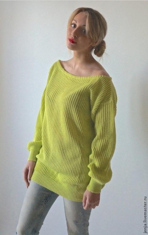 Кофты и свитера ручной работы. Ярмарка Мастеров - ручная работа. Купить Sexy jumper in lime by Candy Cottons. Handmade.