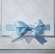 """Ленты ручной работы. Ярмарка Мастеров - ручная работа """"Голубой топаз"""" - атласная двусторонняя лента с отстрочкой. Handmade."""