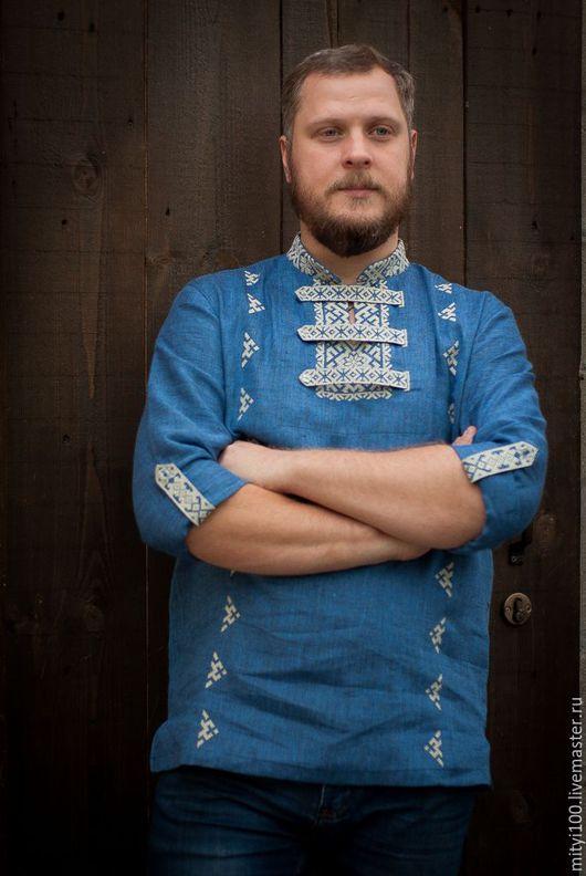 Рубашка АЛАТЫРЬ (Синяя)
