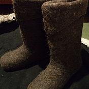 Обувь ручной работы. Ярмарка Мастеров - ручная работа Мужские валенки пимокатные. Handmade.