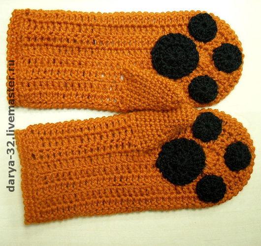 """Варежки, митенки, перчатки ручной работы. Ярмарка Мастеров - ручная работа. Купить Варежки """"Лиса"""", возможно комплектом с шарфом. Handmade."""