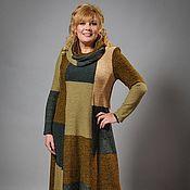 Одежда ручной работы. Ярмарка Мастеров - ручная работа Вязаное платье со снудом в стиле Пэчворк. Handmade.
