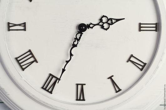 Часы для дома ручной работы. Ярмарка Мастеров - ручная работа. Купить Часы настенные. Handmade. Белый, дизайн, дерево