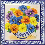 Материалы для творчества handmade. Livemaster - original item 6pcs napkins for decoupage flowers Pansy. Handmade.