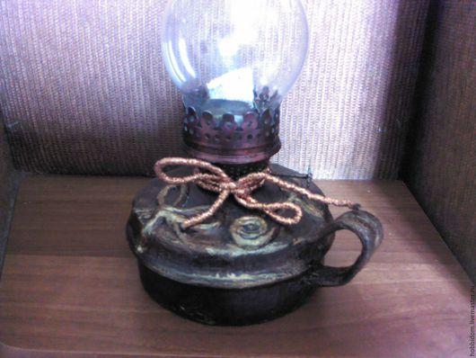 Освещение ручной работы. Ярмарка Мастеров - ручная работа. Купить Лампа керосиновая  Старинная Медь. Handmade. Лампа, Керосинка, бумага