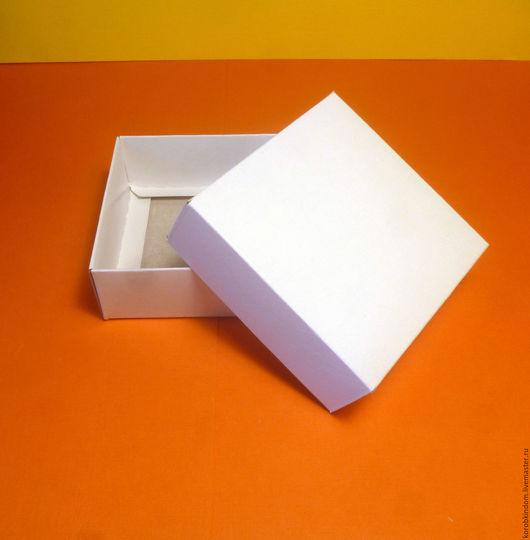 Упаковка ручной работы. Ярмарка Мастеров - ручная работа. Купить 8х8х3 - коробка крышка-дно белая. Handmade. Коробочка