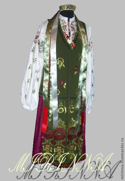 Этническая одежда ручной работы. Ярмарка Мастеров - ручная работа. Купить СДЕЛАНО НА ЗАКАЗ Украинский костюм в слобожанском стиле 2. Handmade.