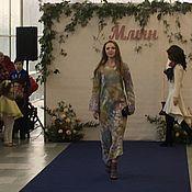 Одежда ручной работы. Ярмарка Мастеров - ручная работа Платье валяное Цветное. Handmade.
