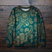 Одежда ручной работы. Ярмарка Мастеров - ручная работа Свитшот с принтом Орнаменты  - классный подарок. Handmade.
