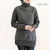 Одежда handmade. Livemaster - original item Sweater women`s knit color: grey. Handmade.