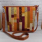 Сумки и аксессуары handmade. Livemaster - original item Patchwork Bag, Honey, Patchwork, Ethno, Boho, 30*27*8. Handmade.