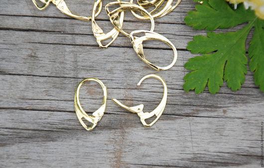 Для украшений ручной работы. Ярмарка Мастеров - ручная работа. Купить Швензы с французским замком левербек, цвет золото. Handmade.