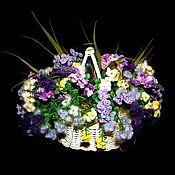 """Цветы и флористика ручной работы. Ярмарка Мастеров - ручная работа Цветочная композиция """"Весенние первоцветы"""". Handmade."""