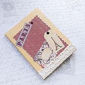 Канцелярские товары ручной работы. Ярмарка Мастеров - ручная работа Блокнотик для записей Paris. Handmade.
