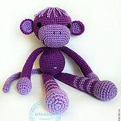 Куклы и игрушки handmade. Livemaster - original item Monkey Fialochka. Knitted monkey.. Handmade.