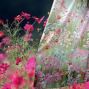 """Одежда ручной работы. Ярмарка Мастеров - ручная работа Юбка макси из нежного атласа """"Космея"""". Handmade."""