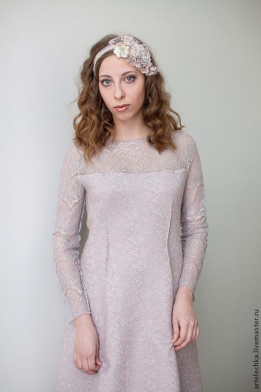 Платье розовая вода