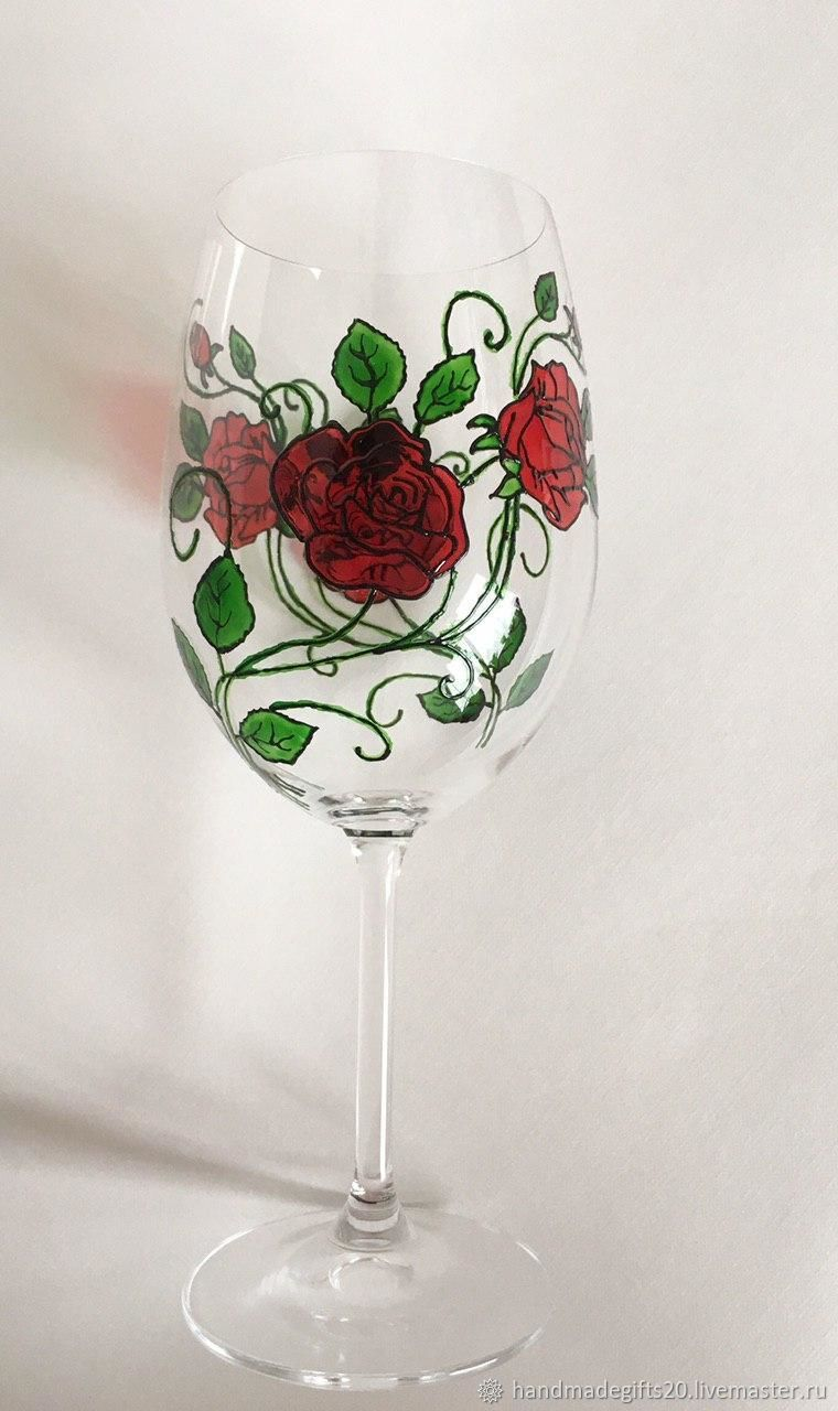 Wine glasses with stained glass painting, Wine Glasses, Moscow,  Фото №1