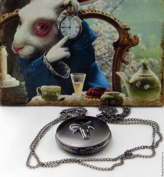 """Часы ручной работы. Ярмарка Мастеров - ручная работа. Купить Часы карманные """"Каратель"""" (черные). Handmade. Часы, подарок, ведьмак"""