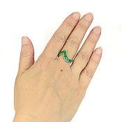 Украшения handmade. Livemaster - original item Ring snake. Malachite and mother of pearl. Ring size 18.5. Handmade.