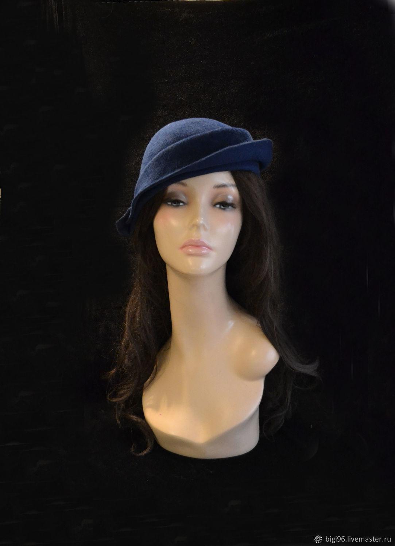 Yoke dark blue, Hats1, Moscow,  Фото №1