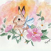 Картины и панно handmade. Livemaster - original item Bunny. Handmade.
