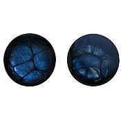 Украшения handmade. Livemaster - original item Cufflinks with painted blue color. Handmade.