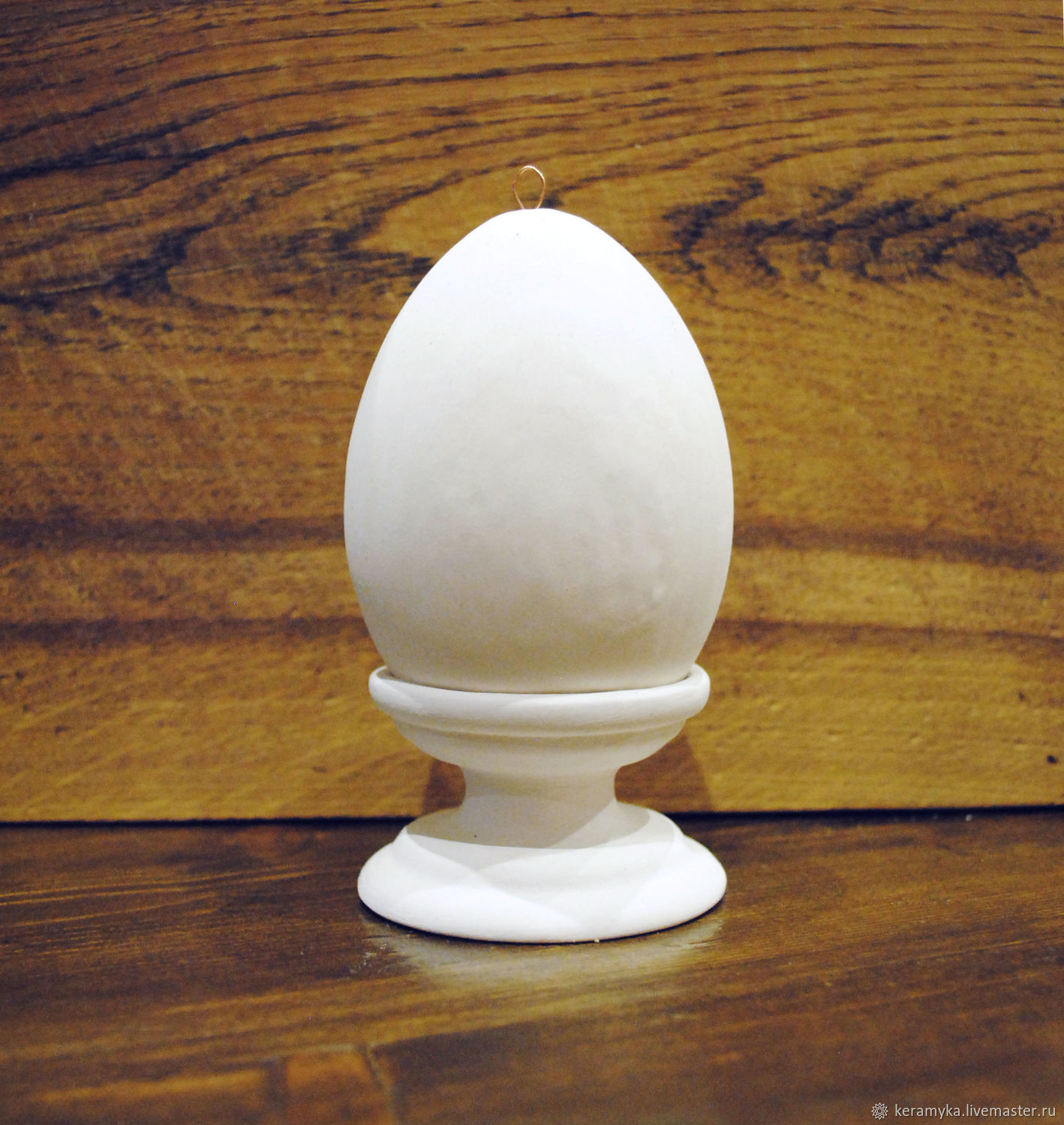 Blank for decoupage and painting ' Egg h-10 cm with stand', Blanks for decoupage and painting, Shigony,  Фото №1