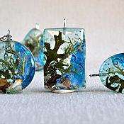 Украшения handmade. Livemaster - original item Marine pendant is made of epoxy resin. Handmade.