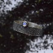 Кольца ручной работы. Ярмарка Мастеров - ручная работа Серебряное кольцо Маяк с отпечатком песка. Handmade.