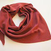 Аксессуары handmade. Livemaster - original item scarves: Knitted kerchief made of merino warm knitted handkerchief. Handmade.