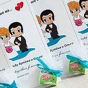 Свадебный салон ручной работы. Ярмарка Мастеров - ручная работа Приглашения на свадьбу love is со жвачкой  Свадебные  приглашения. Handmade.