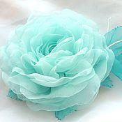 Украшения handmade. Livemaster - original item FABRIC FLOWERS. Brooch